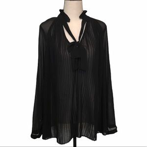 3/$25 Who What Wear | sheer black blouse